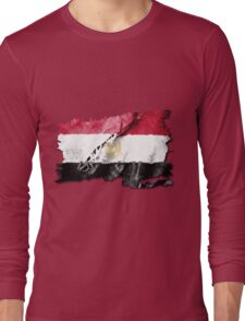 Egyptian torn flag with structure Long Sleeve T-Shirt