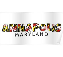 Annapolis Maryland flag word art Poster