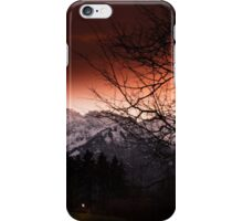 Mountain in sunset iPhone Case/Skin