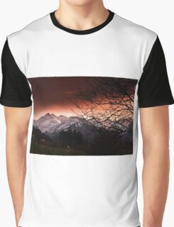 Mountain in sunset Graphic T-Shirt