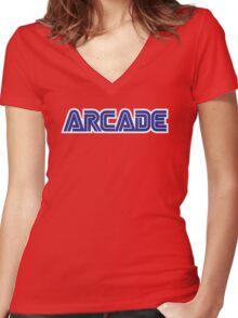 Arcade SEGA-ish Women's Fitted V-Neck T-Shirt