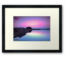 A Glow, High in the sky Framed Print