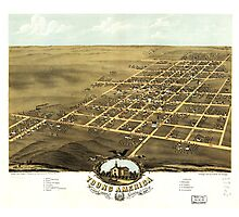 Bird's eye view Map of Young America Warren County Illinois (1869) Photographic Print