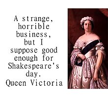 A Strange Horrible Business - Queen Victoria Photographic Print