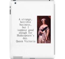 A Strange Horrible Business - Queen Victoria iPad Case/Skin