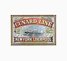 Vintage Cunard Line Sailing New York to Liverpool Unisex T-Shirt