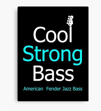 Cool strong bass Canvas Print