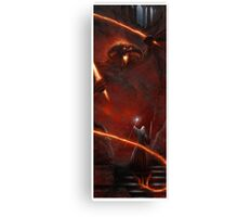 Lord of the Rings Balrog vs Gandalf Canvas Print