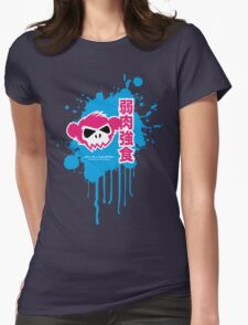 Zombie Monkey Pink Womens Fitted T-Shirt