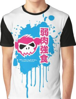 Zombie Monkey Pink Graphic T-Shirt