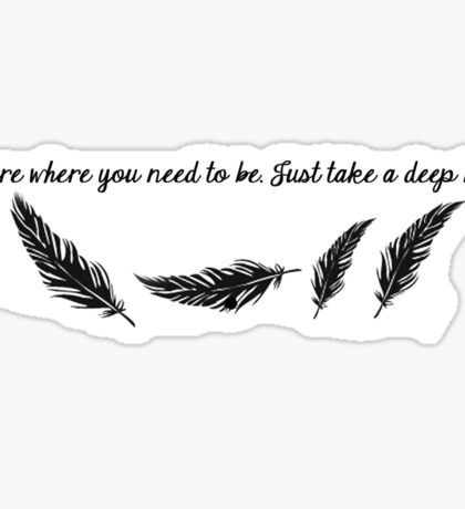 Lana - Feather quote Sticker