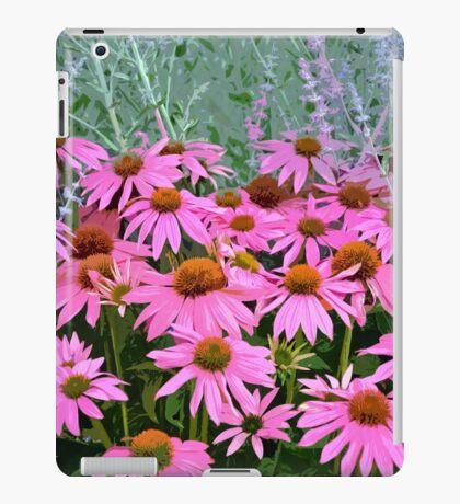 Pink echinacea flowers iPad Case/Skin