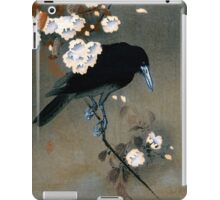 Vintage Japanese Crow and Blossom Woodblock Print iPad Case/Skin