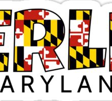 Berlin Maryland flag word art Sticker