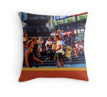 Piccadilly Street Scene 1 with border Throw Pillow
