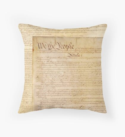 US CONSTITUTION Throw Pillow