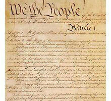 US CONSTITUTION Photographic Print