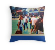 Piccadilly Street Scene 2 with border Throw Pillow