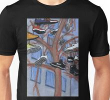shoes hanging from a tree Unisex T-Shirt
