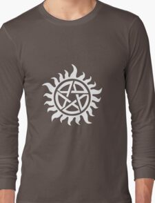 Supernatural Demon Possession Protection [WHITE] Long Sleeve T-Shirt