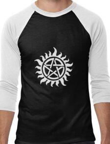 Supernatural Demon Possession Protection [WHITE] Men's Baseball ¾ T-Shirt