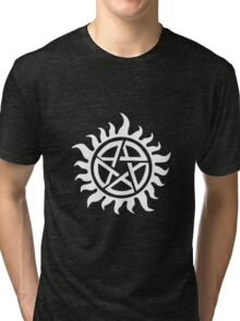 Supernatural Demon Possession Protection [WHITE] Tri-blend T-Shirt