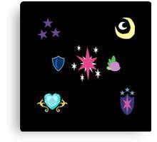 My little Pony - Sparkle Family Cutie Mark Special V2 (Nyx) Canvas Print