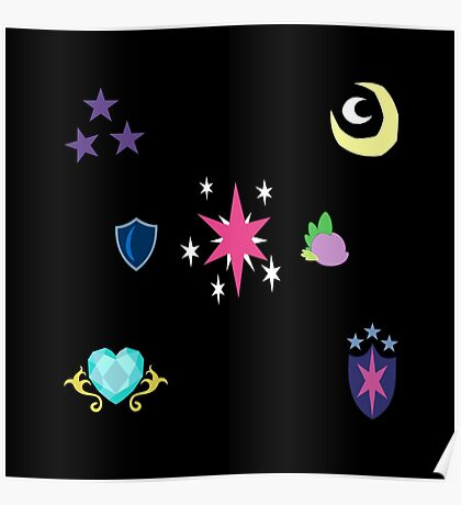 My little Pony - Sparkle Family Cutie Mark Special V2 (Nyx) Poster