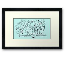 Hand Drawn Quote Framed Print