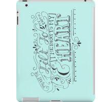 Hand Drawn Quote iPad Case/Skin