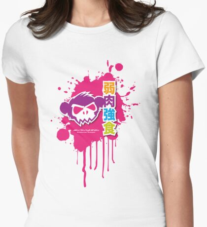Zombie Monkey Shadow Womens Fitted T-Shirt
