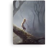 Lost With Fireflies Canvas Print