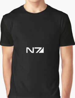 mass effect b&w n7 logo Graphic T-Shirt