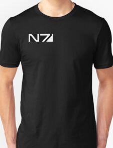 mass effect b&w n7 logo Unisex T-Shirt