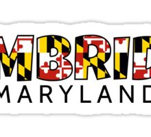 Cambridge Maryland flag word art Sticker