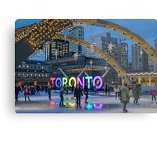 Skating under the Stars in Nathan Phillips Square Metal Print