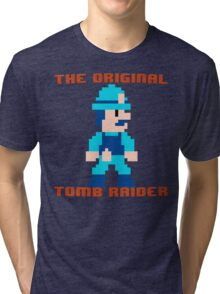 Super Pitfall Original Tomb Raider Tri-blend T-Shirt