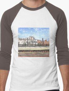 brooklyn subway station Men's Baseball ¾ T-Shirt