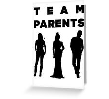 Team Parents - SwanFireQueen Greeting Card