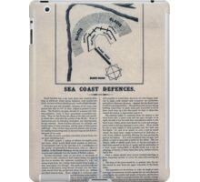 Civil War Maps 1560 Sea coast defences iPad Case/Skin