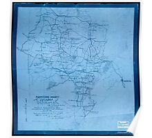 Civil War Maps 1247 Part of Cobb County Georgia Inverted Poster
