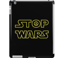 ST☮P WARS - Stars Wars Parody Design with Peace Sign iPad Case/Skin