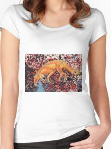 Fox Totem Women's Fitted Scoop T-Shirt