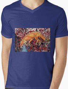 Fox Totem Mens V-Neck T-Shirt