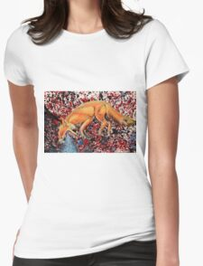 Fox Totem Womens Fitted T-Shirt