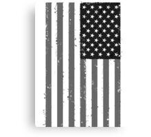 American Flag - Black and White Canvas Print