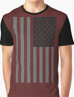 American Flag - Black and White Graphic T-Shirt