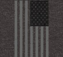 American Flag - Black and White Unisex T-Shirt