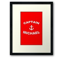 Captain Customize Any Name funny nerd geek geeky Framed Print