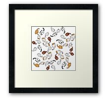 neko atsume cat party!! Framed Print